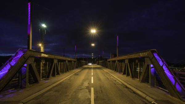 Conception lumière Colmar, pont SNCF
