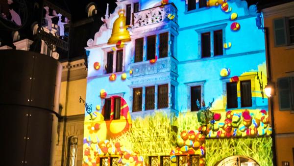 Mise en valeur festive Colmar, Maison des Têtes
